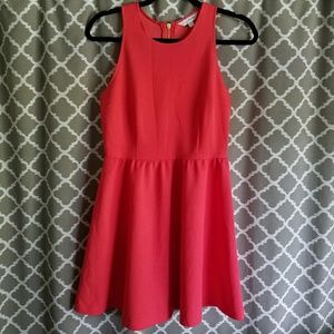 Charming Charlie Coral Fit & Flare Dress S